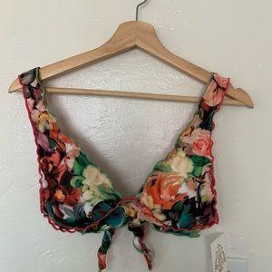 BECCA Swim Ruffle Tie-Back Bikini Top
